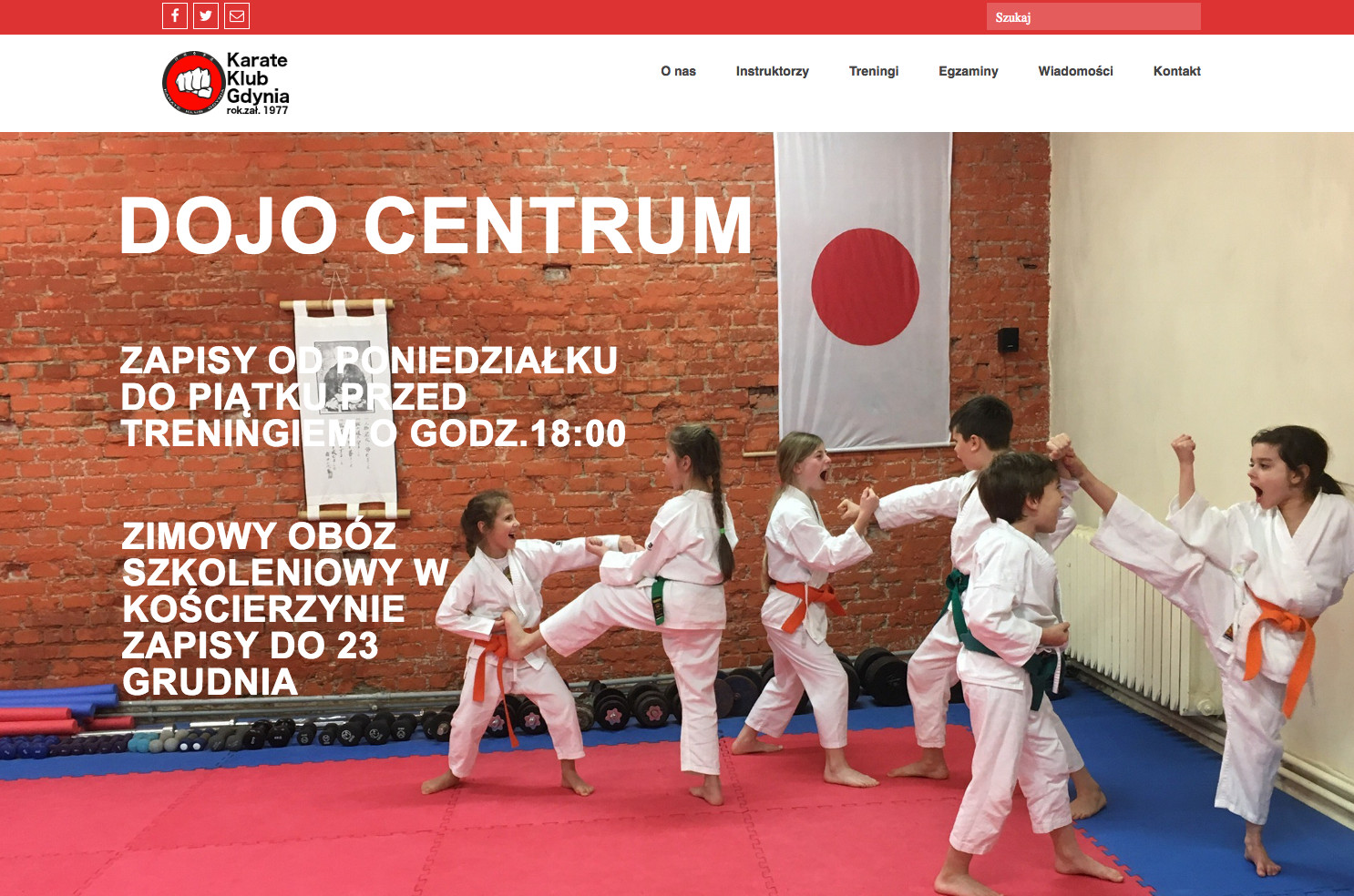 Strona www Karate Klub Gdynia