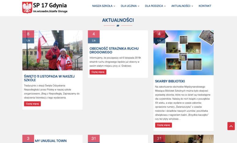 Strona www SP17 Gdynia