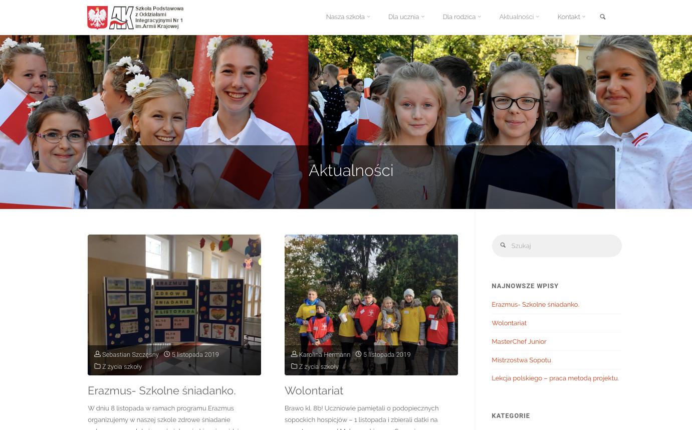 Strona www SP1 Sopot