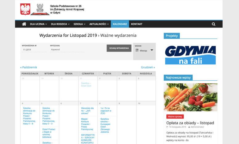Strona www SP26 Gdynia