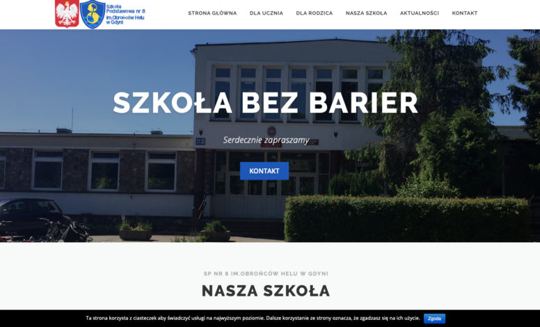 Strona www SP8 Gdynia
