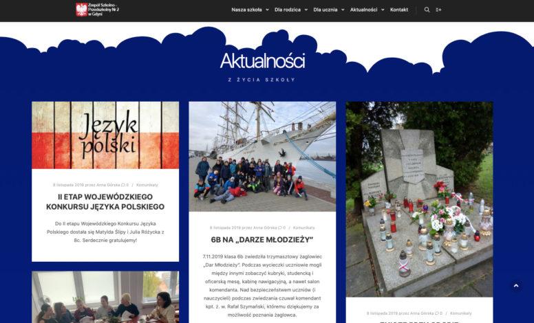 Strona www ZSP2 Gdynia